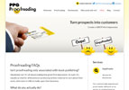 PPG Proofreading wanted a site with blogging capability to share their thoughts on the subject of writing
