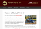 Minstead Private Hire needed a straightforward professional looking website at an affordable price